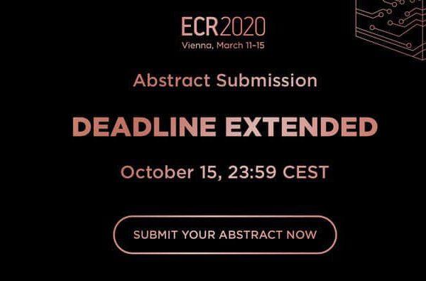 Хорошие новости от ESR и ECR 2020 – финальный срок подачи тезисов продлен на 5 дней!
