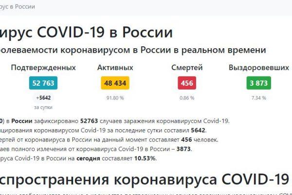 Счетчик случаев коронавируса в России и мире