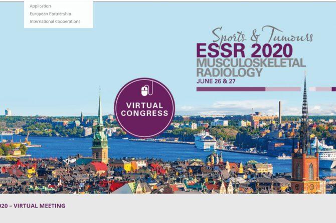 Виртуальный конгресс ESSR 26-27 июня 2020