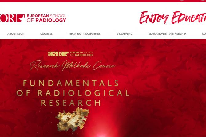 Приглашение на курс ESR пр основам научно-исследовательской работы в рентгенологии и радиологии